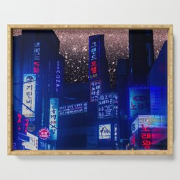 Seoul Meteor Shower  Serving Tray