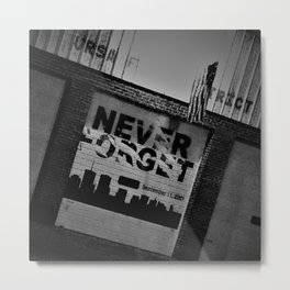 Never Forget Metal Print