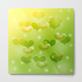 sweethearts green Metal Print