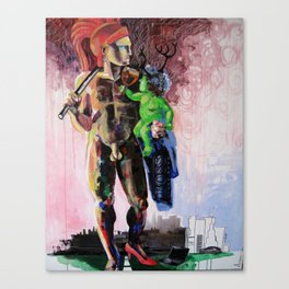 Hermaphrodite with a child Canvas Print
