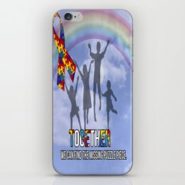 Autism,Together we can find the missing puzzle piece, iPhone Skin