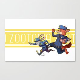 On the Chase! Canvas Print