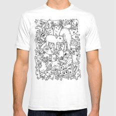 counting pigs SMALL Mens Fitted Tee White