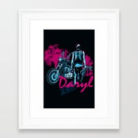 daryl Framed Art Prints featuring Daryl Drive by Tracey Gurney
