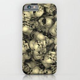 Heap of skulls iPhone Case