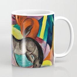 Three Horses by Franz Marc Coffee Mug