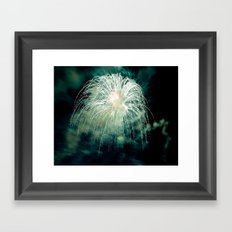 Firework Framed Art Print