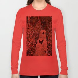"Gustav Klimt ""Garden Path with Chickens"" Long Sleeve T-shirt"