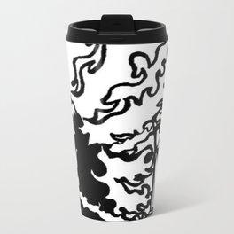 Knight and flaming steed Metal Travel Mug