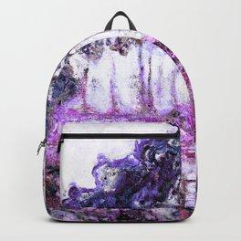 Monet Poplars on the Banks of the River Epte Magenta Violet Backpack