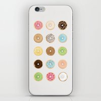 donut iPhone & iPod Skins featuring Donut by Céline Dscps