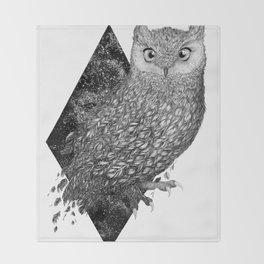 Cosmic Owl Throw Blanket