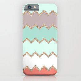 AVALON CORAL MINT iPhone Case