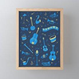 The Spirit of Jazz Pattern Framed Mini Art Print