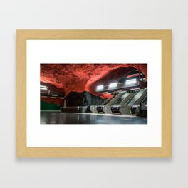 Solna Centrum Metro Station in Stockholm, Sweden VI Framed Art Print
