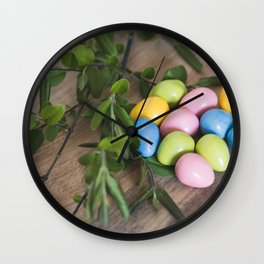 Easter Eggs 20 Wall Clock