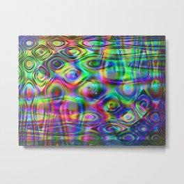 Abstract Yin & Yang Metal Print