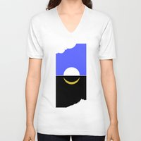 sun and moon V-neck T-shirts featuring The sun and moon by barmalisiRTB