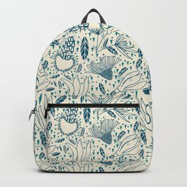 Flying flowers and triangles Backpack