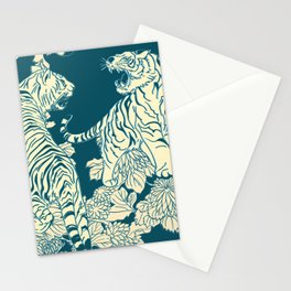 floral tigers Stationery Cards