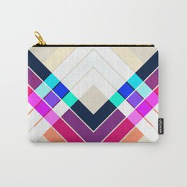 Colorful Summer Retro Style Stripes Inciona Carry-All Pouch