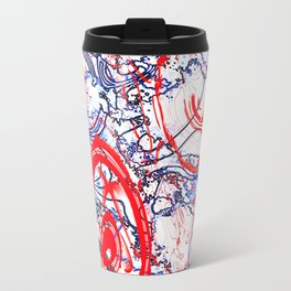 Splattering of Red Travel Mug