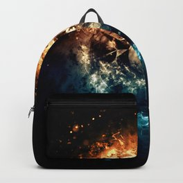 Burning Circle - Fire and Ice - Isolated Backpack