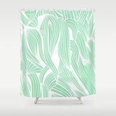 Seafoam & White Shower Curtain
