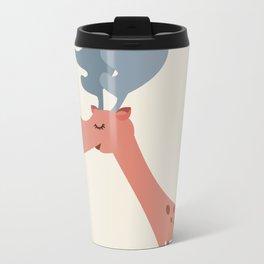 Pink Deer Metal Travel Mug
