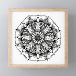 Flower Mandala Framed Mini Art Print