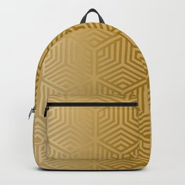 Gold geometric pattern on a gold background Backpack