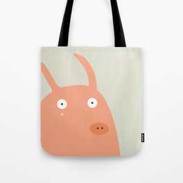 Pigs playing bunny game Tote Bag