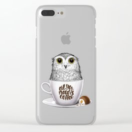 Owl you need is coffee Clear iPhone Case