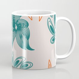 pattern with flowers and leaves Coffee Mug