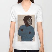 arnold V-neck T-shirts featuring Arnold by alkoipa