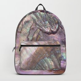 Shimmery Lavender Abalone Mother of Pearl Backpack