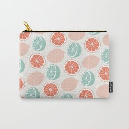 Lemons | Minty Green & Red Carry-All Pouch
