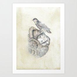 FlutterHeart Art Print
