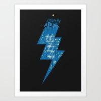 Thunder City Art Print
