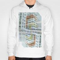hong kong Hoodies featuring Hong Kong Apartments by Eugene Lee