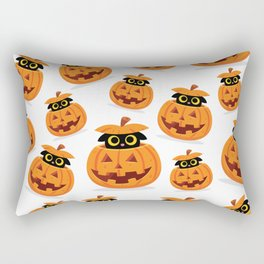 Cute Kitty Hidden Inside a Pumpkin Rectangular Pillow