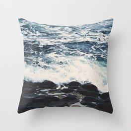 Rocky Sea Shore Throw Pillow