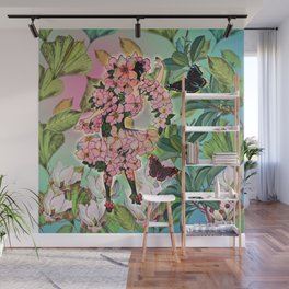 Vintage Flower Fairy Wall Mural