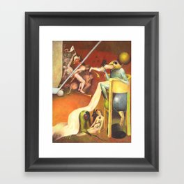 Golf Course In Hell Framed Art Print