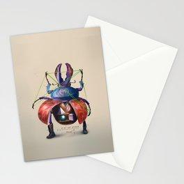 Beetle stunt Stationery Cards