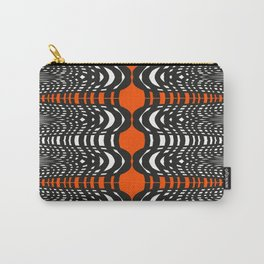 Black and Orange Illustion Carry-All Pouch