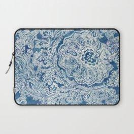 Blue Boho Paisley Pattern Laptop Sleeve