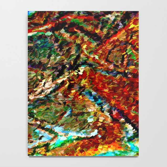 Emerald Impressions Abstract Notebook