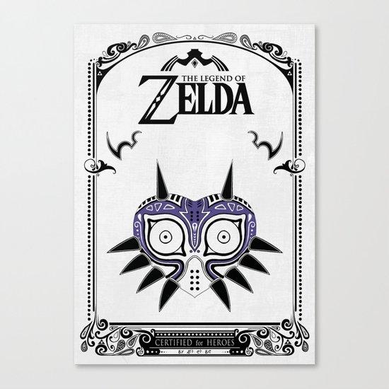 Zelda legend - Majora's mask Canvas Print