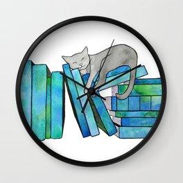Literary Naps Blue Wall Clock